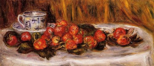 Still Life with Strawberries, 1905 by Pierre-Auguste Renoir