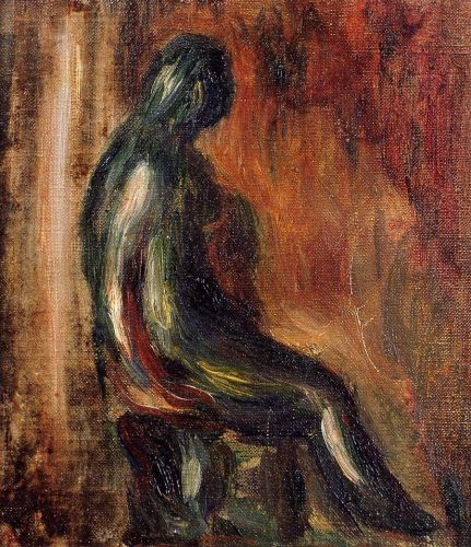 Study of a Statuette by Maillol, 1907 by Pierre-Auguste Renoir