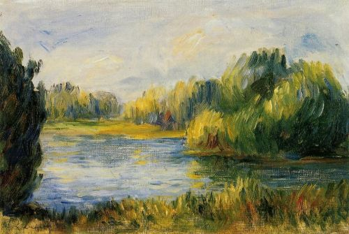 The Banks of the River by Pierre-Auguste Renoir