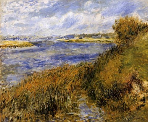 The Banks of the Seine at Champrosay, 1876 by Pierre-Auguste Renoir
