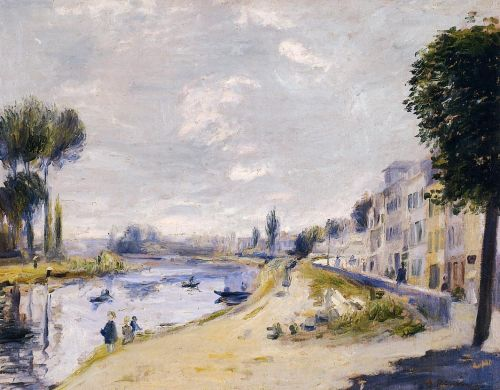 The Banks of the Seine, Bougival, 1875 by Pierre-Auguste Renoir