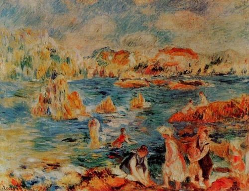 The Beach at Gurnsey, 1882-1883 by Pierre-Auguste Renoir