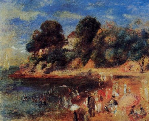 The Beach at Purnic, 1892 by Pierre-Auguste Renoir
