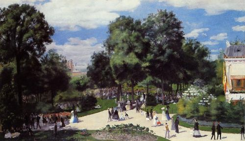 The Champs-Elysees during the Paris Fair of 1867, 1867 by Pierre-Auguste Renoir