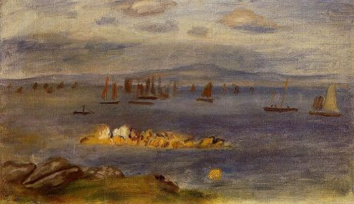 The Coast of Brittany, Fishing Boats, 1878 by Pierre-Auguste Renoir