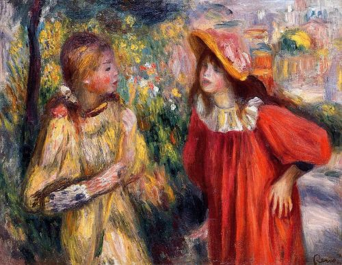 The Conversation, 1895 by Pierre-Auguste Renoir