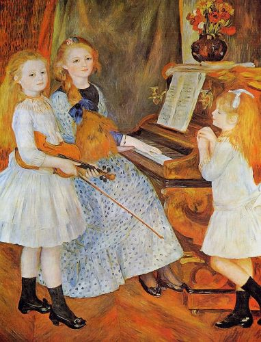 The Daughters of Catulle Mendes (Les filles de Catulle Mendés), 1888 by Pierre-Auguste Renoir
