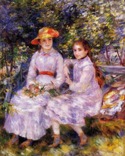 The Daughters of Paul Durand-Ruel (Marie-Theresa and Jeanne), 1882 by Pierre-Auguste Renoir