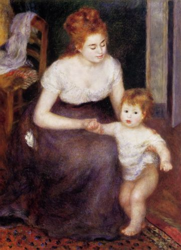 The First Step, 1876 by Pierre-Auguste Renoir
