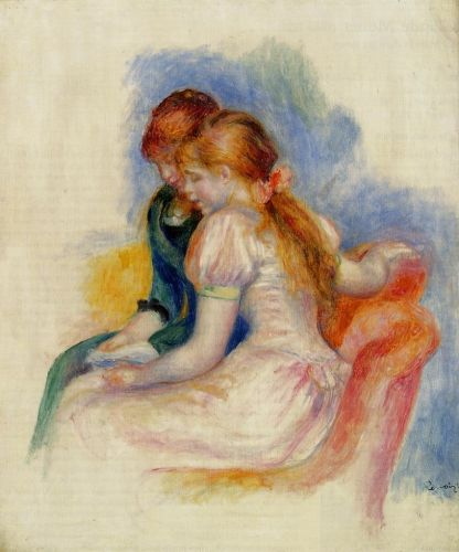 The Reading, 1890 by Pierre-Auguste Renoir