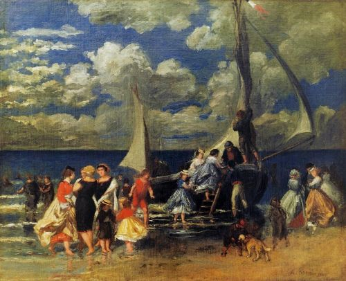 The Return of the Boating Party, 1862 by Pierre-Auguste Renoir