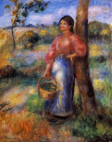 The Shepherdess, 1902 by Pierre-Auguste Renoir