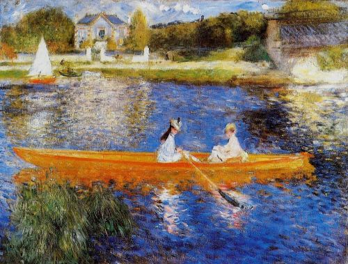 The Skiff (The Seine at Asnières), 1879 by Pierre-Auguste Renoir