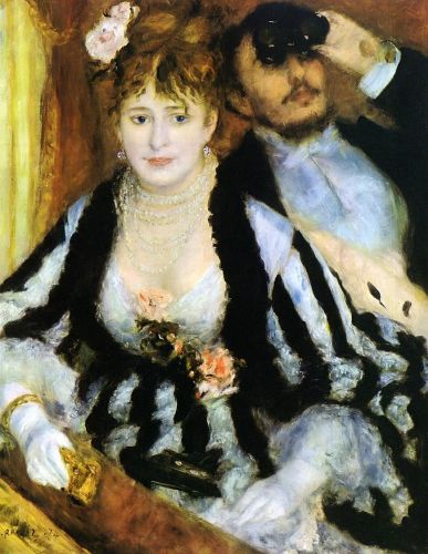 The Theater Box (La Loge), 1874 by Pierre-Auguste Renoir