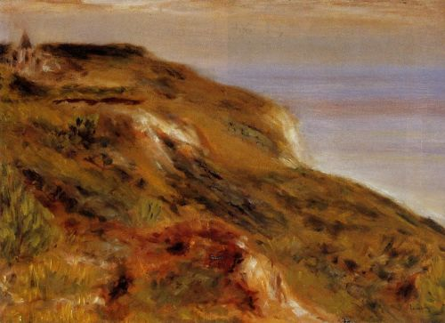 The Varangeville Church and the Cliffs, 1880 by Pierre-Auguste Renoir