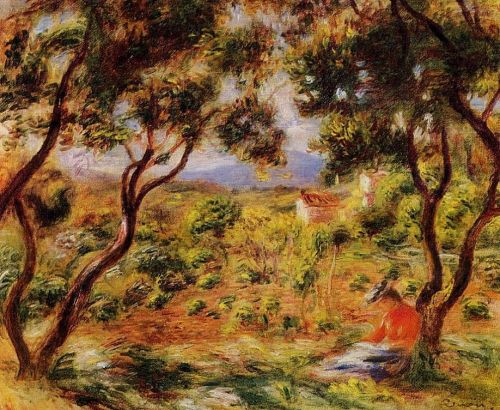 The Vineyards of Cagnes, 1908 by Pierre-Auguste Renoir
