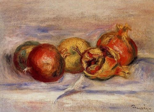 Three Pomegranates and Two Apples by Pierre-Auguste Renoir