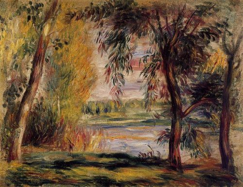 Trees by the Water by Pierre-Auguste Renoir