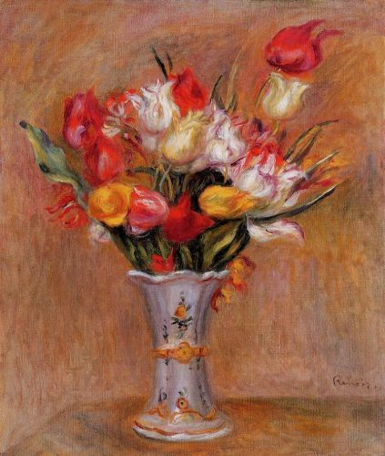 Tulips, 1909 by Pierre-Auguste Renoir