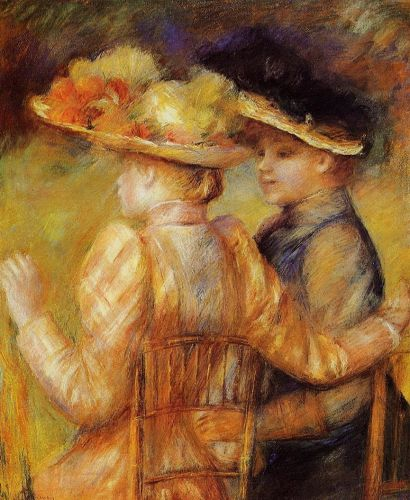 Two Women in a Garden, 1895 by Pierre-Auguste Renoir
