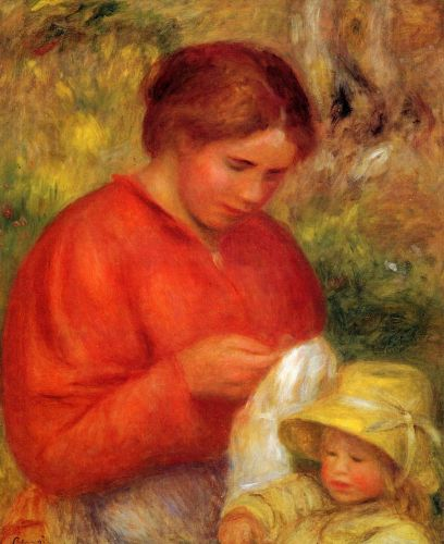 Woman and Child, 1900 by Pierre-Auguste Renoir