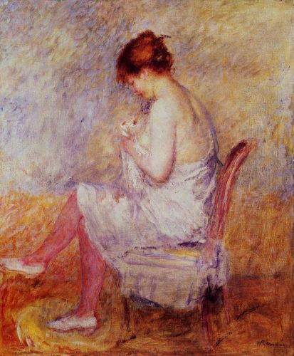 Woman in a Chemise, 1897-1898 by Pierre-Auguste Renoir