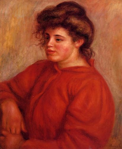 Woman in a Red Blouse, 1908 by Pierre-Auguste Renoir