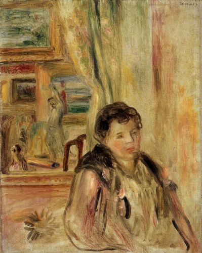 Woman in an Interior by Pierre-Auguste Renoir