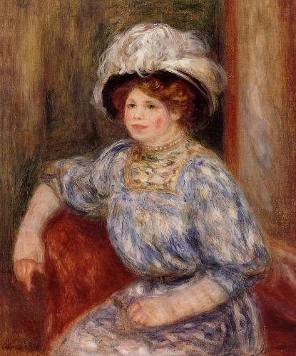 Woman in Blue, 1906-1919 by Pierre-Auguste Renoir