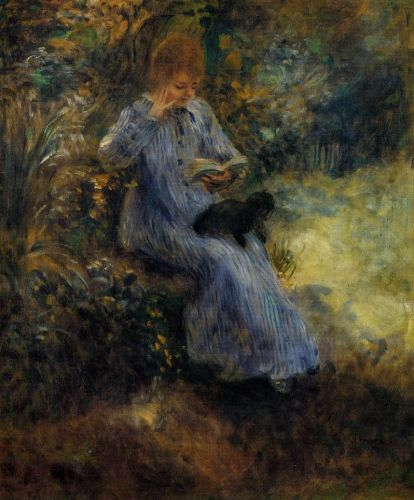 Woman with a Black Dog, 1874 by Pierre-Auguste Renoir