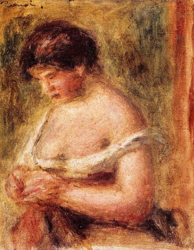 Woman with a Corset, 1914 by Pierre-Auguste Renoir