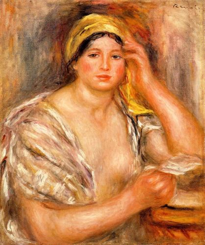 Woman with a Yellow Turban, 1917 by Pierre-Auguste Renoir