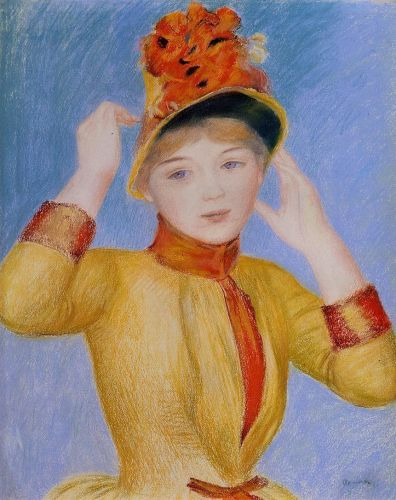 Yellow Dress (Bust of a Woman), 1883 by Pierre-Auguste Renoir