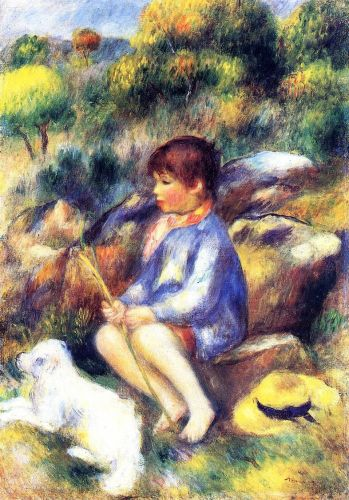 Young Boy by the River, 1890 by Pierre-Auguste Renoir