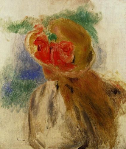 Young Girl in a Flowered Hat, 1900-1905 by Pierre-Auguste Renoir