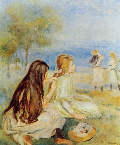 Young Girls by the Sea, 1894 by Pierre-Auguste Renoir