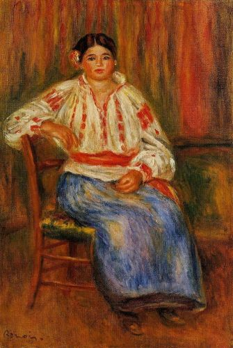 Young Roumanian, 1914 by Pierre-Auguste Renoir