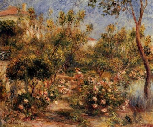 Young Woman in a Garden - Cagnes, 1903-1905 by Pierre-Auguste Renoir