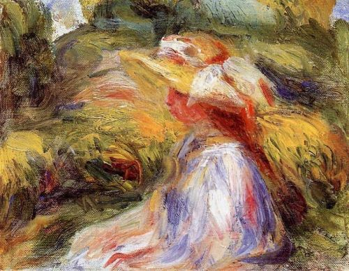 Young Woman in a Hat, 1918 by Pierre-Auguste Renoir