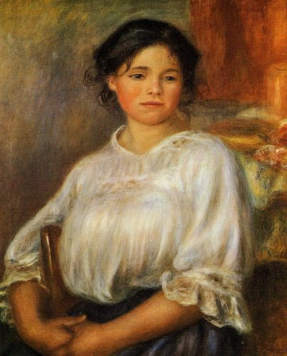 Young Woman Seated, 1909 by Pierre-Auguste Renoir