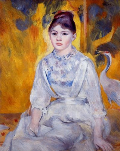Young Woman with Crane, 1886 by Pierre-Auguste Renoir