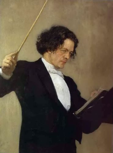 Portrait of the Composer Anton Rubinstein by Ilya Yefimovich Repin