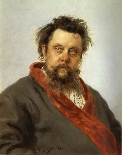 Portrait of the Composer Modest Mussorgsky by Ilya Yefimovich Repin