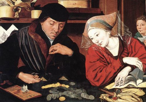 The Banker and His Wife by Marinus van Reymerswaele