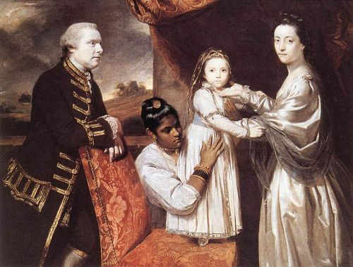 George Clive and his Family with an Indian Maid by Sir Joshua Reynolds