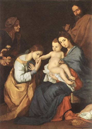 The Holy Family with St Catherine by Jusepe de Ribera