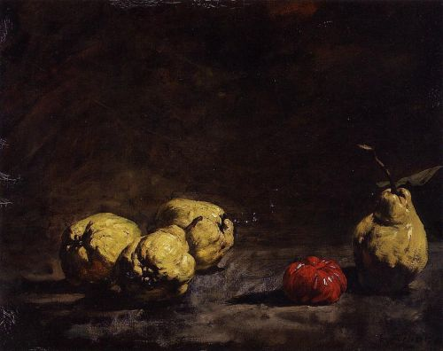 Still Life with Pears and a Quince by Augustin Théodule Ribot