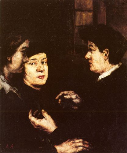 The Conversation by Augustin Théodule Ribot