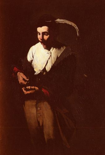 The Minstrel by Augustin Théodule Ribot