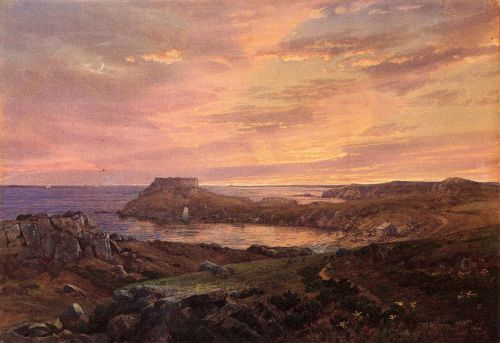 Old Fort at Conanicut, Rhode Island by William Trost Richards